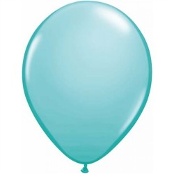 "11"" Round Caribbean Blue Latex Balloon (with helium)"