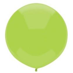 "17"" Round Jewel Kiwi Lime Latex Balloon (with helium)"