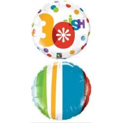 """30-Ish 18"""" Round Foil Balloon"""