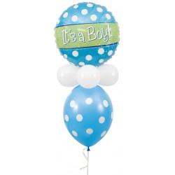 "Designer Polka Dots It's A Boy - 18"" W x 35"" H"