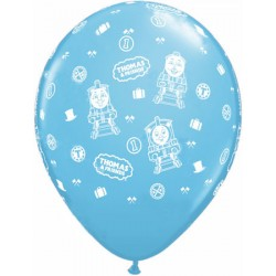 "Thomas & Friends 11"" Round Pale Blue Latex Balloon (with helium)"