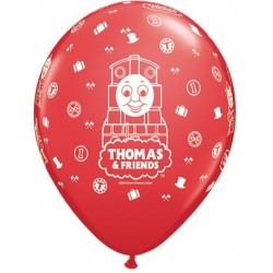 "Thomas & Friends 11"" Round Red Latex Balloon (with helium)"