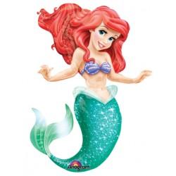 """The Little Mermaid Air Walker Foil Balloon 53""""H"""