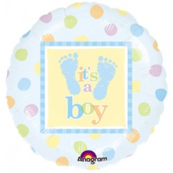 "Baby Steps Boy 18"" Foil Balloon"