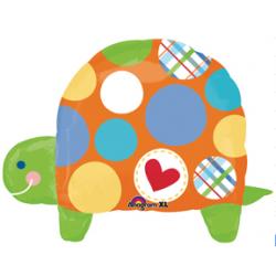 """Polka Dot Turtle Foil Balloon - 26""""W x 25""""H"""
