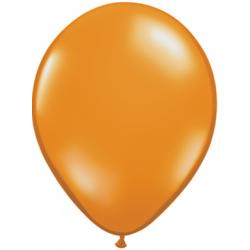 """11"""" Round Mandarin Orange Latex Balloon (with helium)"""