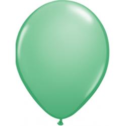 "11"" Round Wintergreen Latex Balloon (with helium)"