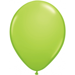 """11"""" Round Lime Green Latex Balloon (with helium)"""