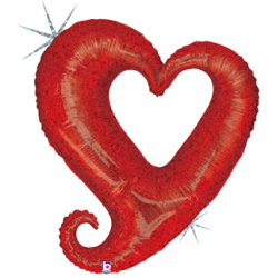 "Chain Of Hearts Foil Balloon - 35""W x 40""H"