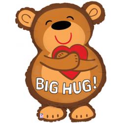 "Big Hug Bear Foil Balloon - 22"" W x 29"" H"