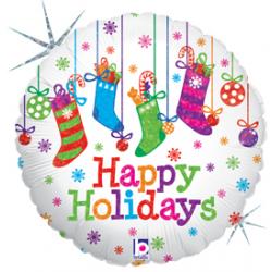 """Holiday Polka Dots 18"""" Foil Balloon"""