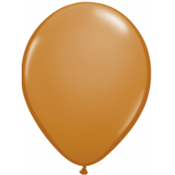 "11"" Round Mocha Brown Latex Balloon (with helium)"
