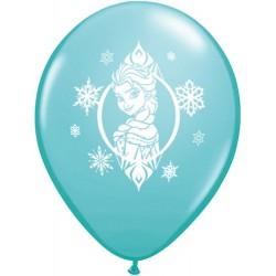 "Disney Frozen 11"" Round Caribbean Blue Latex Balloon (with helium)"