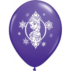 "Disney Frozen 11"" Round Violet Latex Balloon (with helium)"