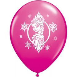 "Disney Frozen 11"" Round Wild Berry Latex Balloon (with helium)"
