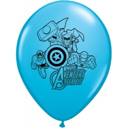 "Avengers Assemble 11"" Round Robin's Egg Blue Latex Balloon (with helium)"