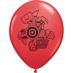 "Avengers Assemble 11"" Round Red Latex Balloon (with helium)"
