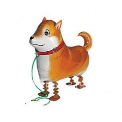 "Animal Walking Balloon - Brown Dog 23""(W) x 16""(H)"