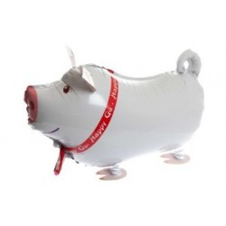 "Animal Walking Balloon - Pig 24""(W) x 15""(H)"