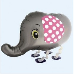 "Animal Walking Balloon - Silver Elephant 31""(W) x 17""(H)"