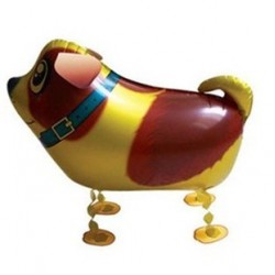 """Animal Walking Balloon - Yellow Dog 23""""(W) x 16""""(H)"""
