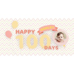 Personalized Balloon Girl Vinyl Banner with Photo