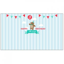 Personalized Teddy Bear Vinyl Banner