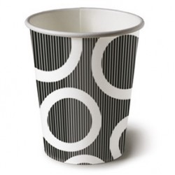 Circle Black 6.5oz Paper Cup, 10pcs