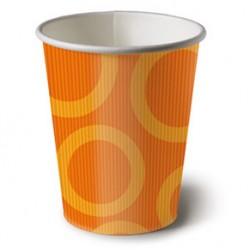 Circle Orange 6.5oz Paper Cup, 10pcs