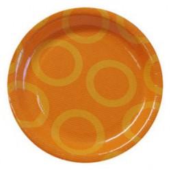 "Circle Orange 9"" Paper Plate, 10pcs"