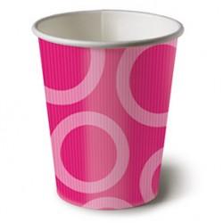 Circle Pink 6.5oz Paper Cup, 10pcs