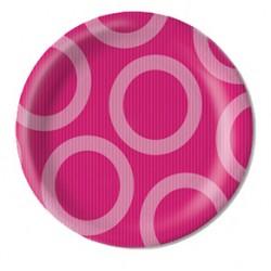 "Circle Pink 9"" Paper Plate, 10pcs"