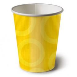 Circle Yellow 6.5oz Paper Cup, 10pcs