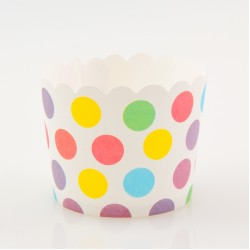 Paper Treat Cup in Polka Dots - Multicolor, 25 pcs