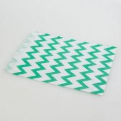 Paper Treat Bag in Chevron - Green, 25 pcs