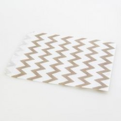 Paper Treat Bag in Chevron - Grey, 25 pcs