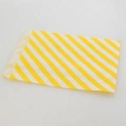 Paper Treat Bag in Stripes - Yellow, 25 pcs