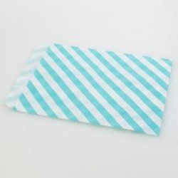 Paper Treat Bag in Stripes - Baby Blue, 25 pcs