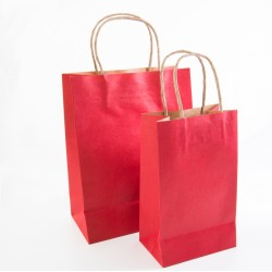 Paper Gift Bag - Red, 10 pcs