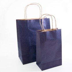 Paper Gift Bag - Dark Blue, 10 pcs