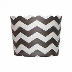 Paper Treat Cup in Chevron - Black, 20 pcs