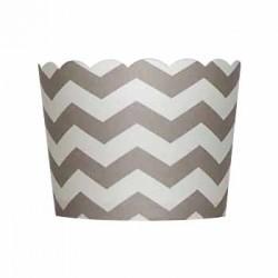Paper Treat Cup in Chevron - Grey, 20 pcs