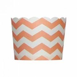 Paper Treat Cup in Chevron - Peach, 20 pcs