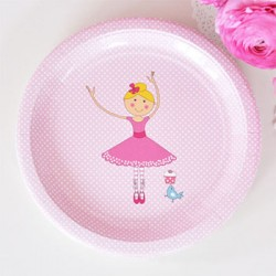 "Ballerina 9"" Paper Plate, 12pcs"