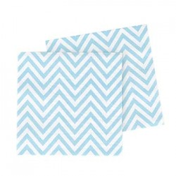 Chevron Blue Napkin, 20pcs