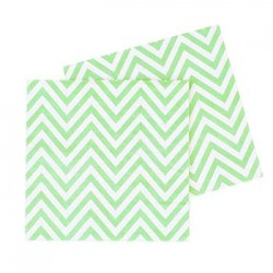 Chevron Green Napkin, 20pcs