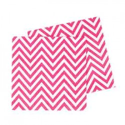 Chevron Hot Pink Napkin, 20pcs
