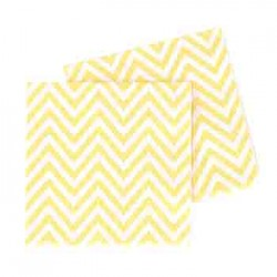 Chevron Yellow Napkin, 20pcs