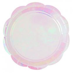 "Iridescent 9"" Paper Plate, 10pcs"
