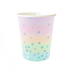 Iridescent 9oz Paper Cup, 10pcs
